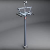 3d model ski lift pole