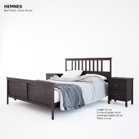 hemnes table ikea 3d model