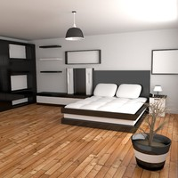 3d bedroom room model