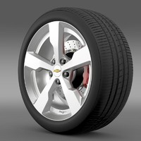 3d chevrolet volt wheel