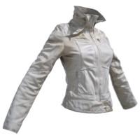 maya white leather jacket