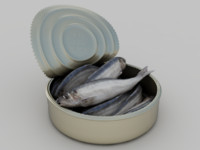 canned fish 3d obj