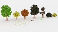 cinema4d minecraft trees