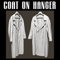 Coat on hanger
