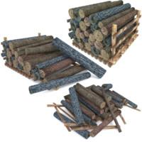 Wood Log Pack Low Poly