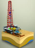 3d oil rig model