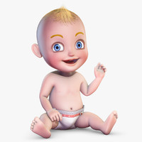 Cartoon Baby Rigged