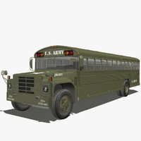 3d model army bus