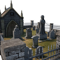 3ds max medieval cemetery