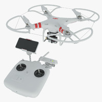 3d model of dji phantom 2 quadrocopter