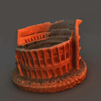 3d monument rome colliseum model