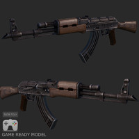 Ak-47 low poly model