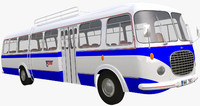 historical bus 3d obj