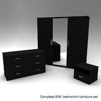 Complete B.M. bedroom's furniture set