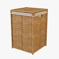 laundry basket ikea branas 3d max