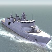 l16 absalon support ship 3d model