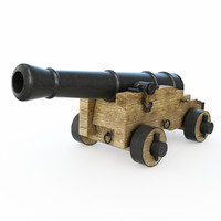 3d cannon artillery naval model