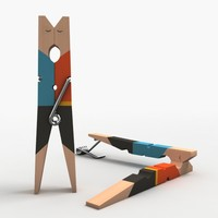 clothespin clothes pin 3d obj
