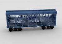 US livestock railcar