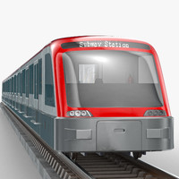 3d model modern subway train