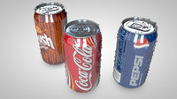 soda cans pack 3d c4d