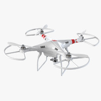 3d model dji phantom quadrocopter