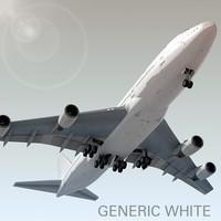 3dsmax boeing 747-400 generic white