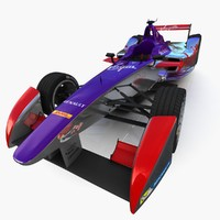 virgin formula e race car 3d max