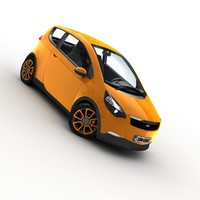 3d model generic city car -