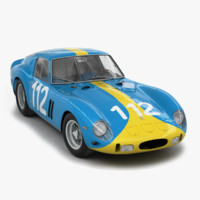 3d model engine ferrari 250 gto