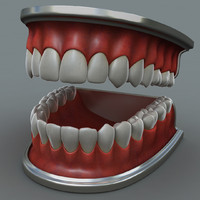 3ds max jaw teeths