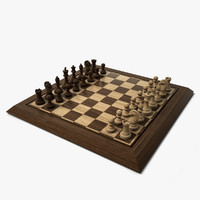 chess set hd 3d 3ds