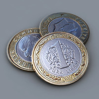 3d turkish coin