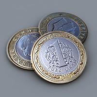 3d turkish coin