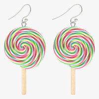 3d model lollipop earrings