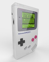 3d model nintendo gameboy