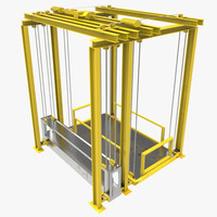 industrial lift 3d fbx