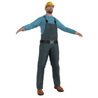 3ds max worker man