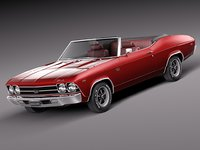 3ds convertible chevrolet chevelle