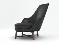 max guscio alto armchair