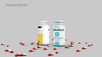 3d pill bottle model