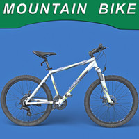 maya realistic mountain bike modeled