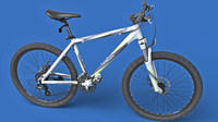 3d realistic mountain bike model