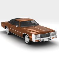3d cadillac eldorado 1978 model