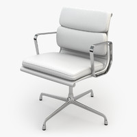 eames soft pad chair 3d max
