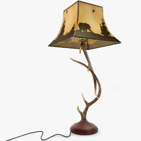 3d max antler table lamp