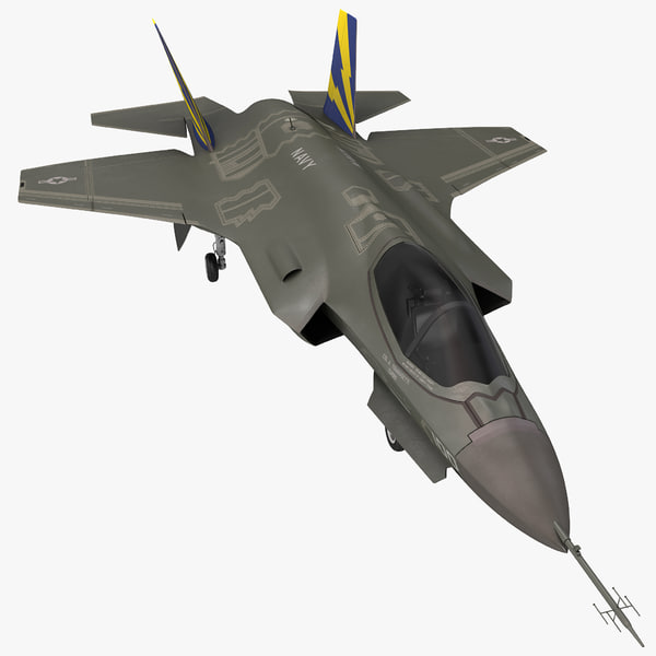 Fighter Aircraft Lockheed Martin F-35 Lightning II jet plane airplane single engine stealth combat reconnaissance ground attack vray f35