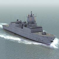 3d model knm fridtjof nansen class frigates