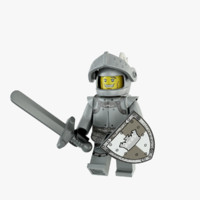 heroic knight 3d obj