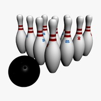 3d real bowling ball pin